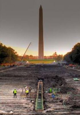 Lincoln Memorial Reflecting Pool Renovation.
