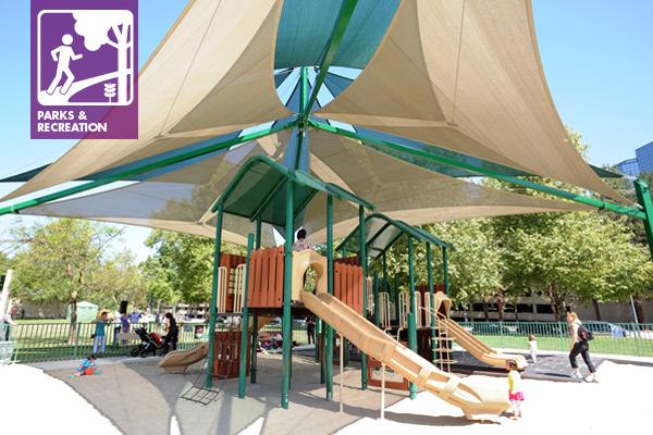 Waterpark Ranch, Los Angeles California, SuperSpan Multi-Level Pyramid