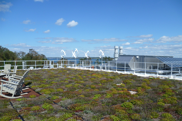 Narragansett Wind Solar Green Roof. Courtesy of EPA.