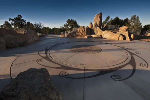 Landmark and Native American Plaza