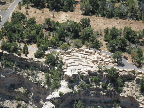 Aerial view of amphitheater