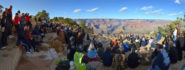 Amphitheater looking up Bright Angel Canyon