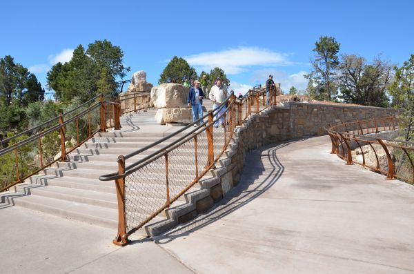 Mather Point stairs and ADA ramp