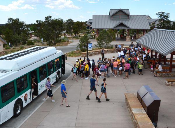 Shuttle Bus Transit Center