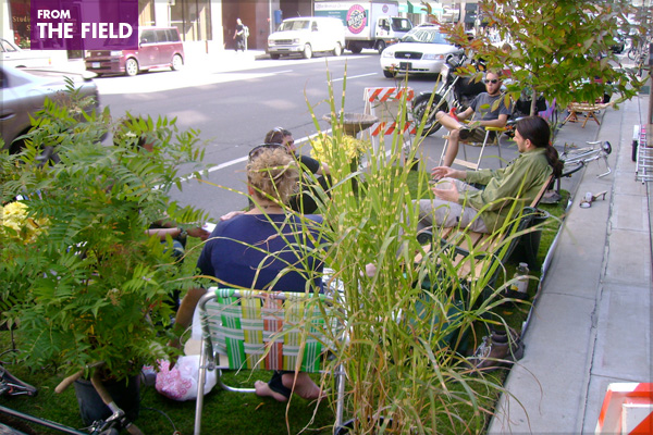 Minneapolis installation during 2008 Park(ing) Dayimage: http://blogs.walkerart.org/centerpoints/
