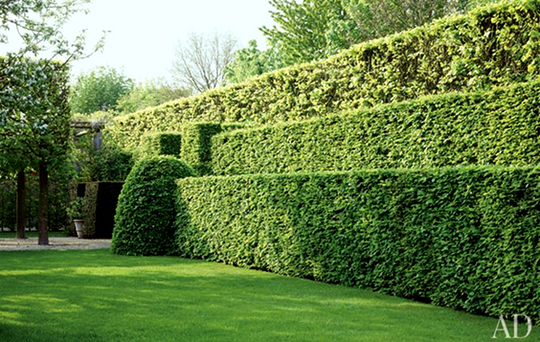 Private gardenimage: Jean-Pierre Gabriel, Architectural Digest
