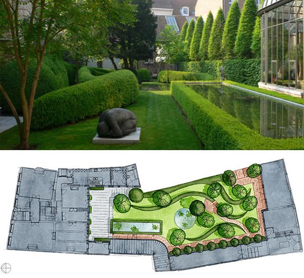 Private Small Garden Design: Folly In Planting Design