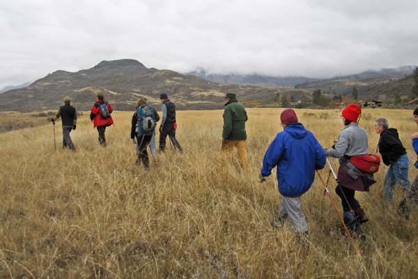 Landowners traversing the landscape.  image: Walter Henze