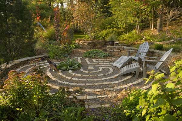 The labyrinth serves as a space for reflection and gathering  image:  Margot Taylor
