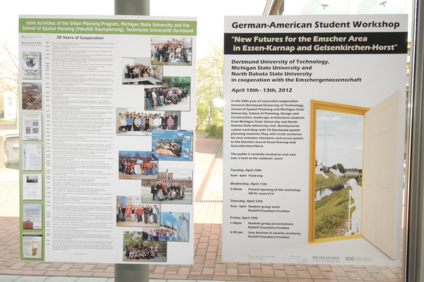 Workshop poster and MSU-TUDO cooperation history image: Michael Roth 2012