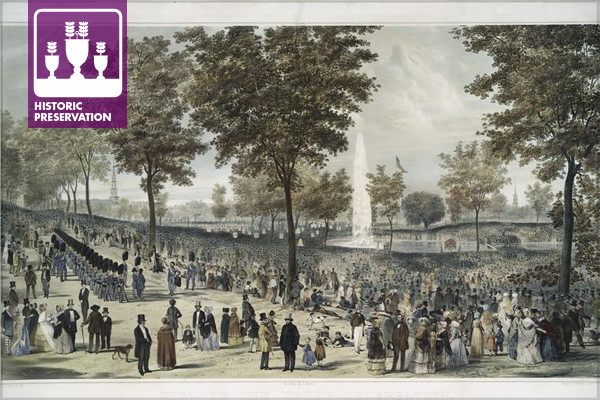 Water Celebration on Boston Common, October 25, 1848 image: New York Public Library