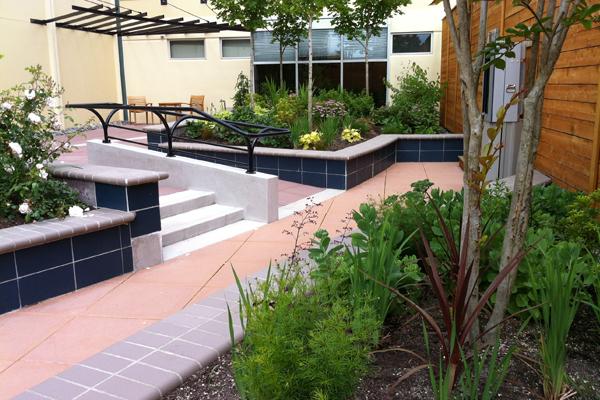 Image: Hafs Epstein Landscape Architecture Stair Ramp At Harrison Image:  Hafs Epstein Landscape Architecture