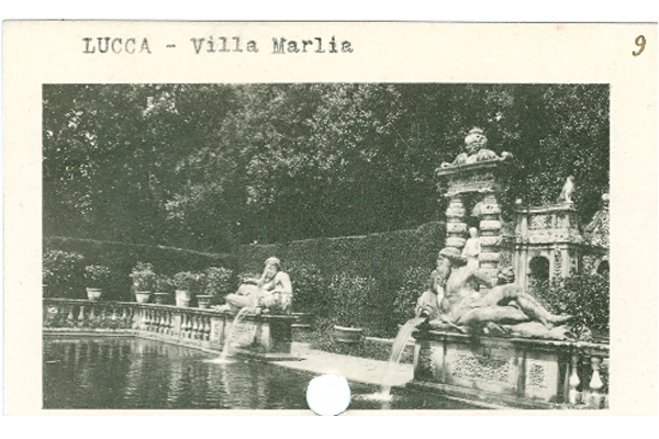 Photo of the ornamental peschiera (fish pond) at Villa Marlia, Lucca, Italy. image: James O'Day
