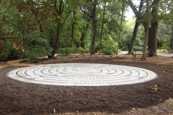 The completed labyrinth, newly installed image: Thomas Baker