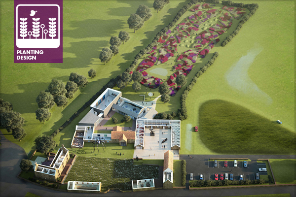design concept image hauser wirth somerset - Garden Design Birds Eye View