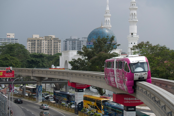 Kuala Lumpur monorail image: Erik Mustonen