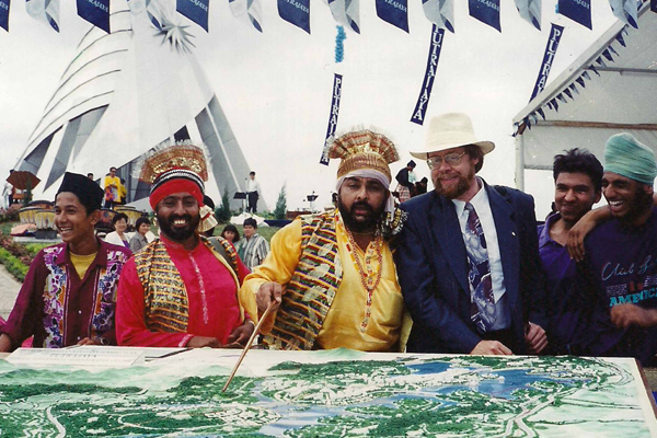 Punjabi musicians at the ground-breaking ceremony for Putrajaya Federal Administrative Centre (planned city), Malaysia. image: Erik Mustonen