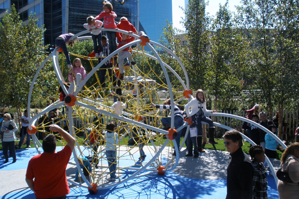Climbing play equipment with a challenge image: Lisa Horne