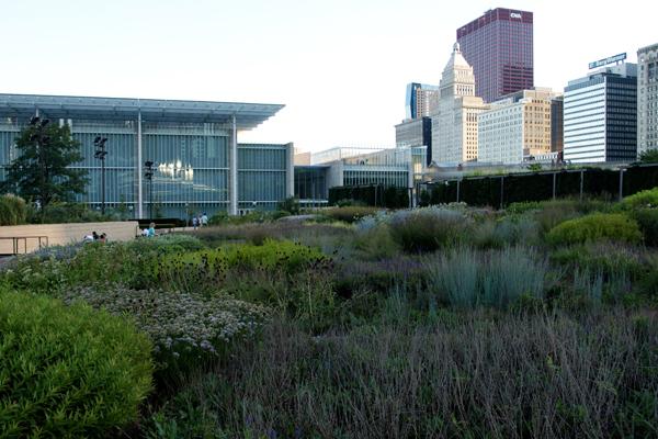 Lurie Garden in Chicago's Millennium Park image: Alexandra Hay