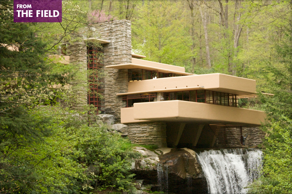 Fallingwater in spring image: Via Tsuji via Flickr