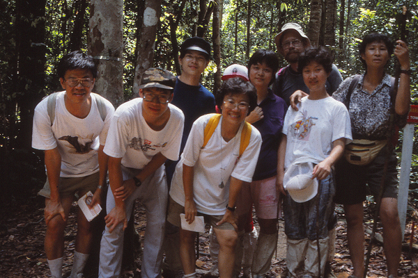 "Hiking in primary forest (""jungle"") with the Malaysian Nature Society  image: Erik Mustonen"