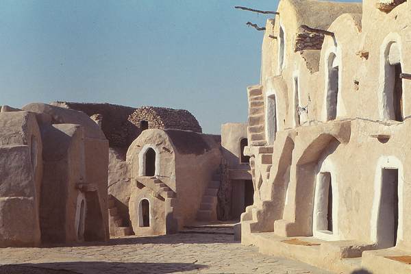 Hotel in traditional structure, southern Tunisia  image: Erik Mustonen