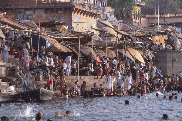 Bathing in the Ganges, Varanasi, India  image: Erik Mustonen