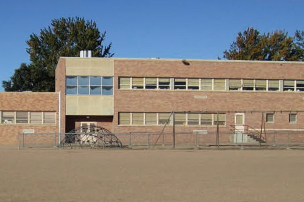 Schmitt Elementary's schoolyard in its original state image: Lois Brink