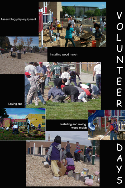 Volunteer days collage image: Bambi Yoste