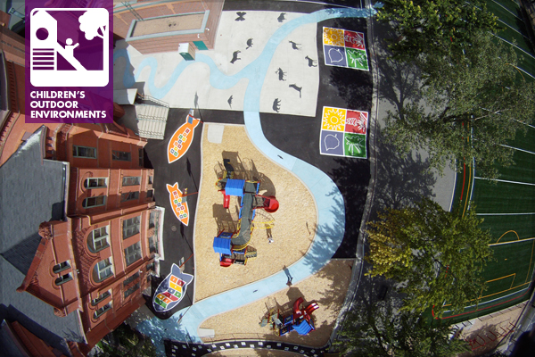 A bird's eye view of Moore Elementary's Learning Landscape  image: Designscapes