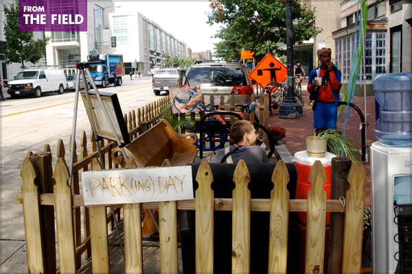 BicycleSPACE's parklet in Washington, DC image: Alexandra Hay