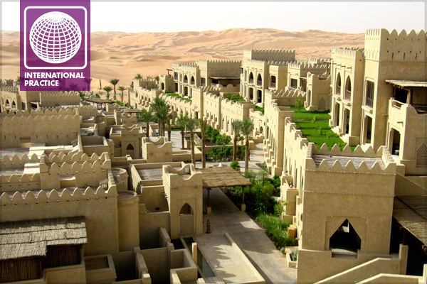 At Qasr Al Sarab, a five star destination resort in the Empty Quarter, the Tourism Development and Investment Company (TDIC) managed a South African designer, a Saudi Arabian landscape subcontractor, thirty other contractors and suppliers as well as overseeing the transition to permanent maintenance to achieve this result.  image: Edward Flaherty