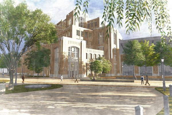 Notre Dame Campus Crossroads Project (Revit, Civil 3D & Lumion Rendering) image: Ryan Deane & Brendan O'Rourke, The SLAM Collaborative