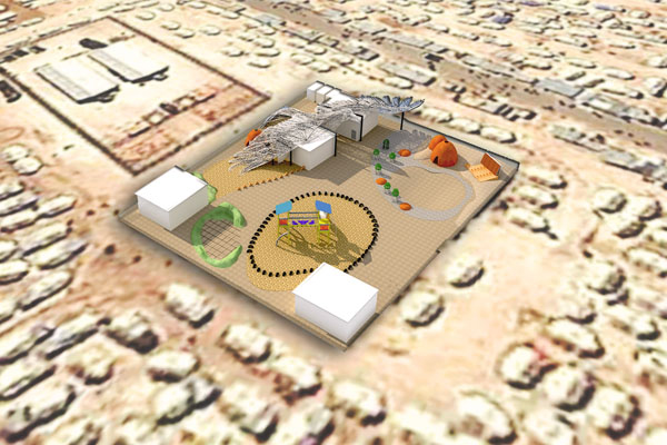 Aerial rendering for the design proposal. image: Malda Takieddine