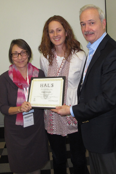First place winners Ann Komara and Maureen Cameron accepting the award from Paul Dolinsky, Chief of HALS, at the 2014 HALS Meeting at the annual ASLA Meeting and Expo in Denver. image: Chris Stevens