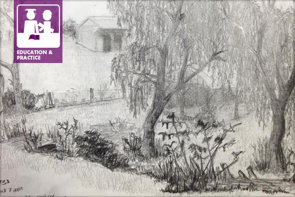 Field sketch image: Jules Bruck
