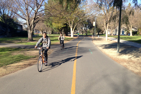 Typical campus bike path image: Skip Mezger