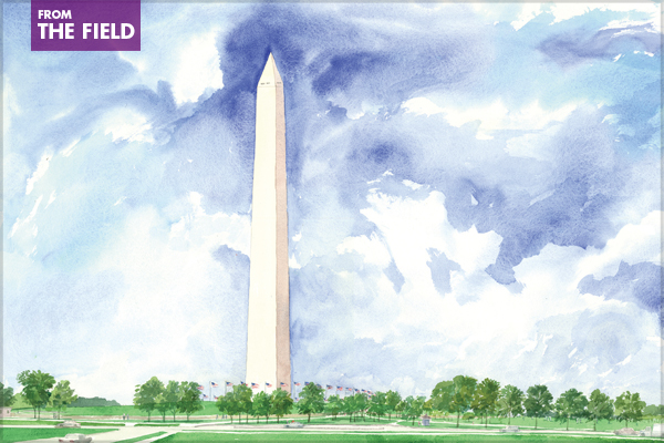 Washington Monument – 2008 General Design Honor Award Winner image: Olin Partnership