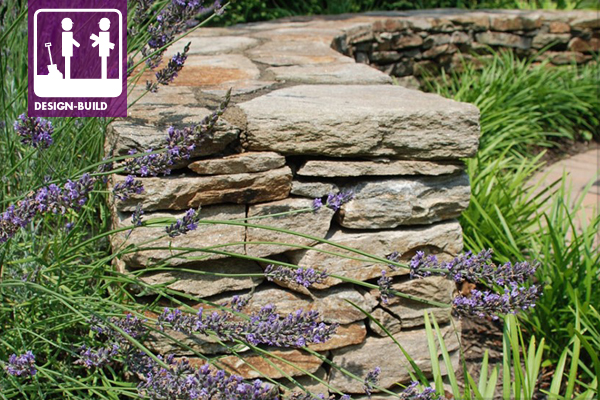Natural Drystack Rubble Stone Wall With Mortared Cap Image Chris Miracle
