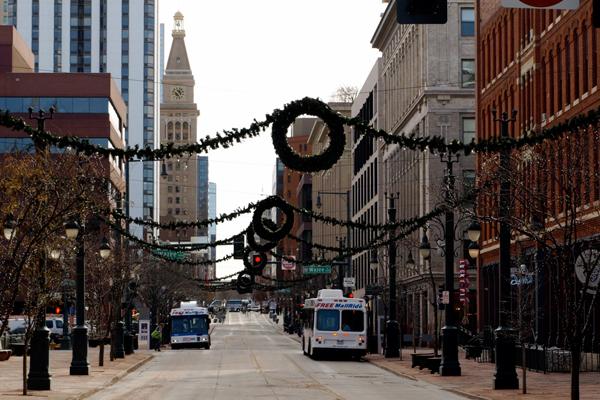 Denver's free Sixteenth Street Shuttle image: Alexandra Hay