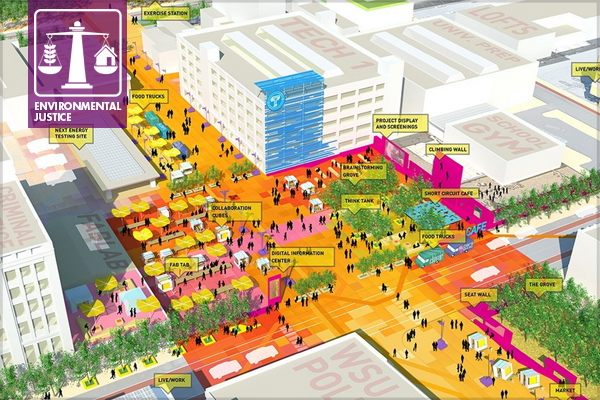 Midtown Detroit Techtown District - 2014 Analysis and Planning Award of Excellence Winner image: Sasaki Associates, Inc.