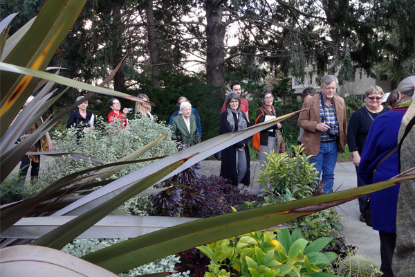 HALS Northern California Chapter members touring the Sunset Magazine gardens image: Chris Pattillo