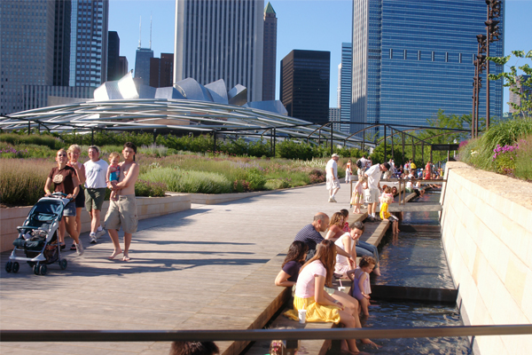 The Lurie Garden in Millennium Park - 2008 General Design Award of Excellence Winner image: Piet Oudolf