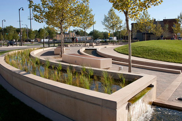 Image 8: Uptown Normal Circle Project: Natural Water Feature   image: Hoerr Schaudt