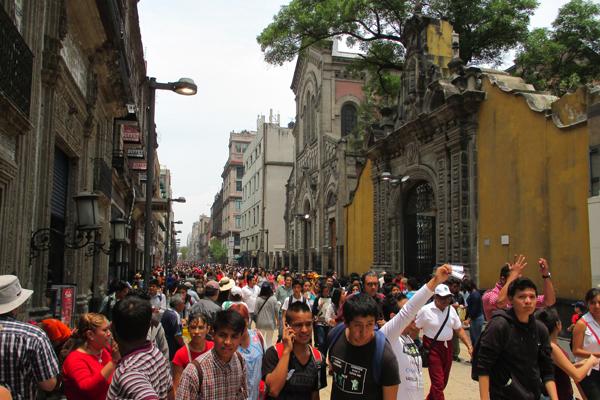 Avenida Francisco I. Madero, a pedestrian street in central Mexico City image: Erik Mustonen