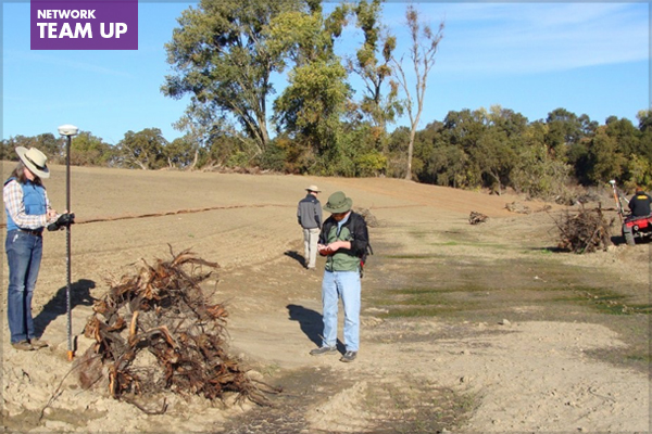 Grading checking and as-built documentation conducted with handheld and 4-wheeler attached RTK gear image: Wildlands, Inc.