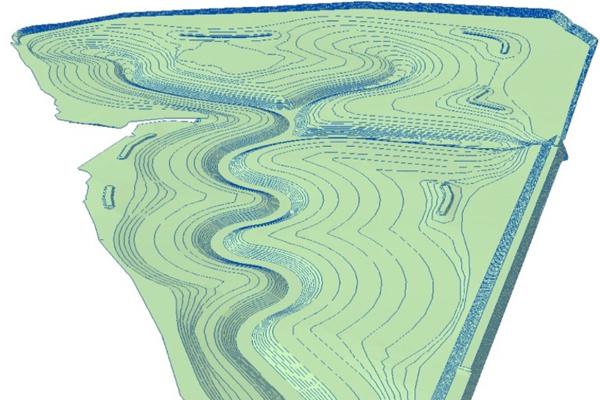 Triangulated Irregular Network (TIN) proposed landform developed in ArcScene image: KTU+A