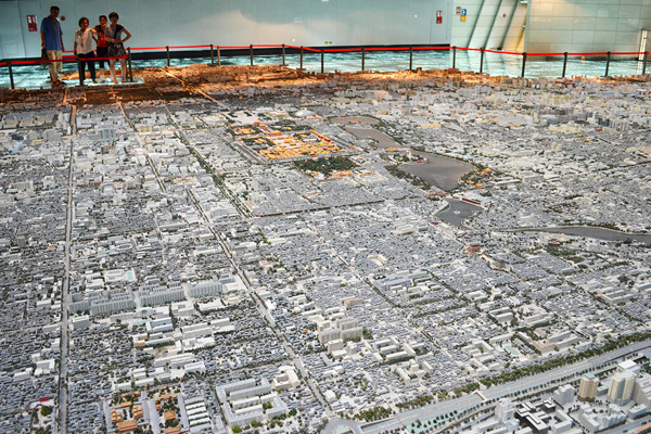 Model of the Beijing city center on display at the Beijing Planning Exhibition Hall image: Shawn Balon