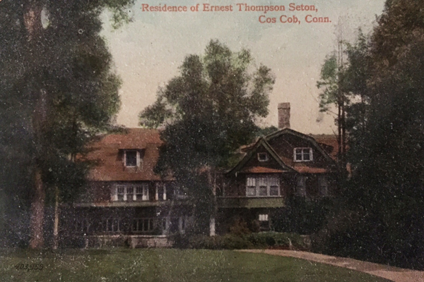 Hand-colored postcard of the manor house at Wyndygoul image: James O'Day
