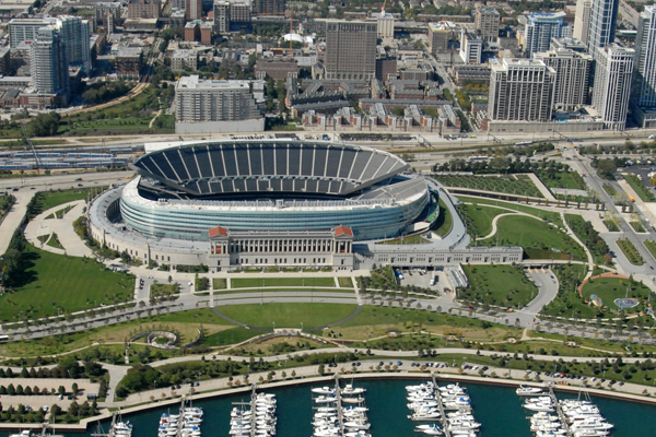 After: North Burnham Park and Soldier Field redevelopment image: courtesy of Hoerr Schaudt